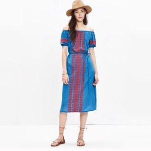 Madewell Denim Dress with embroidery detail